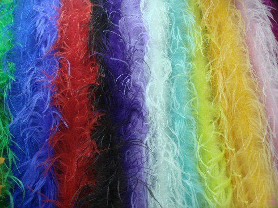 Decorative dyed Ostrich Feather boa