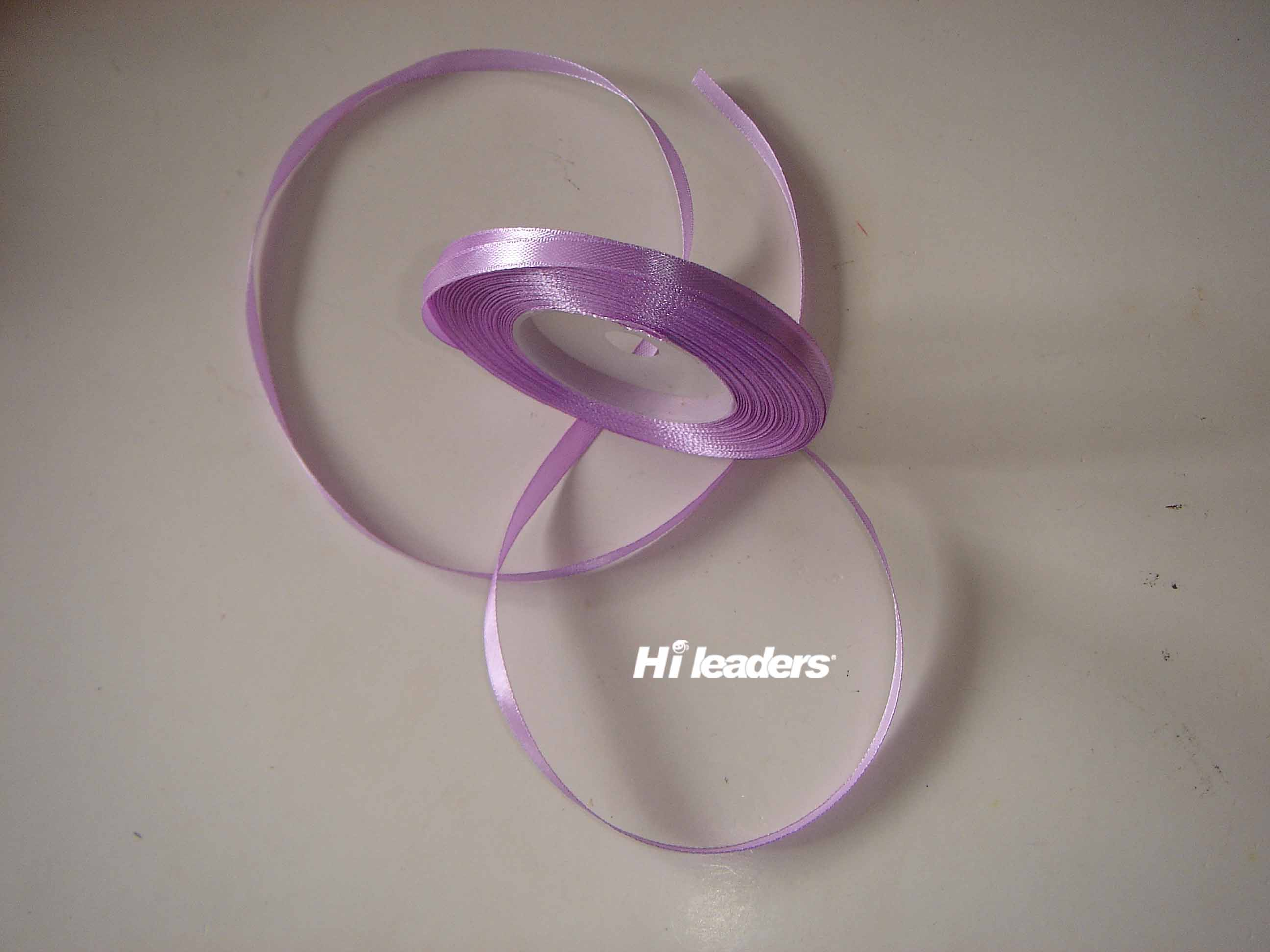 Purple color polyester  satin ribbon