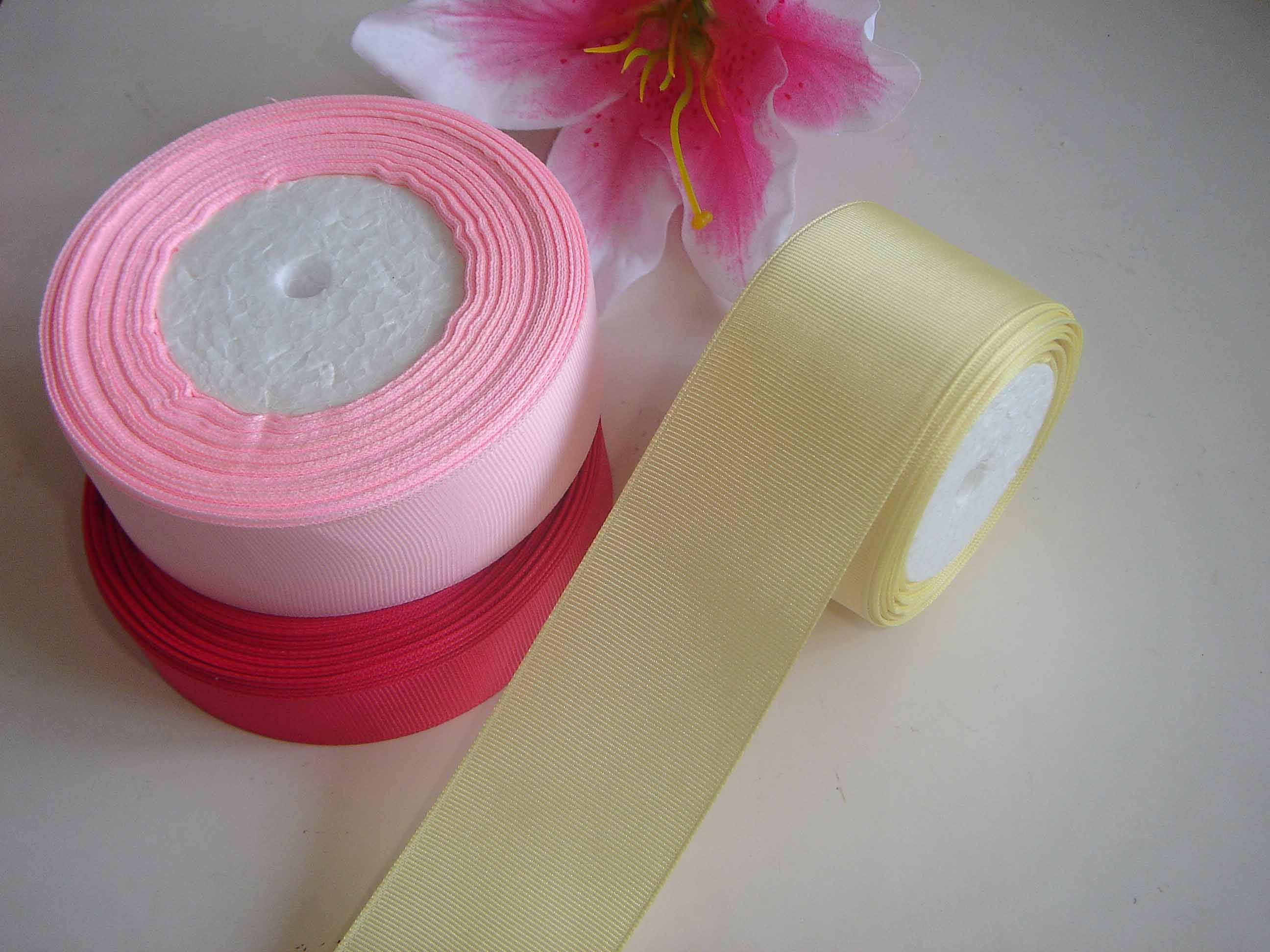 Gift Packing Polyester grosgrain ribbon