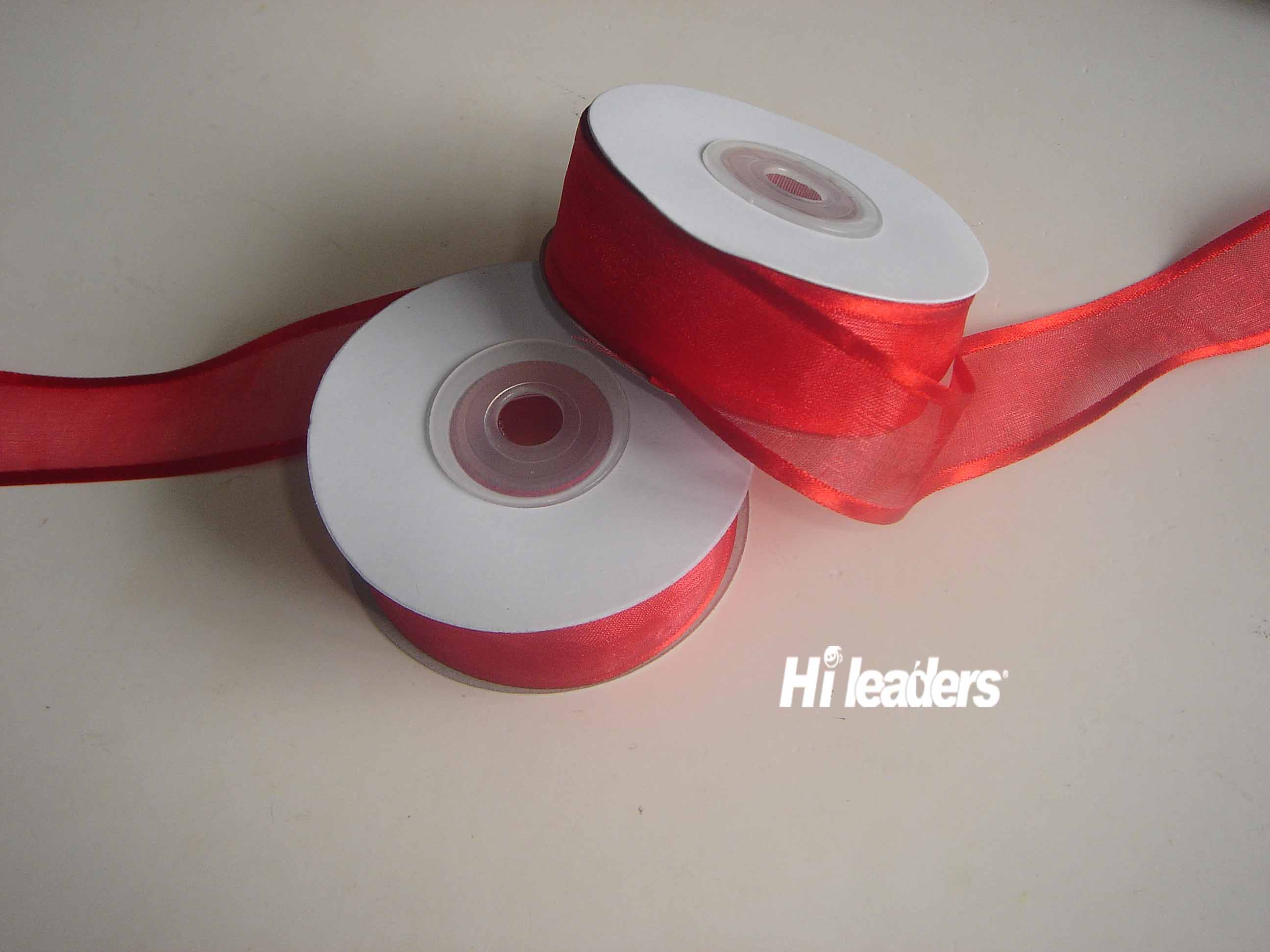 Satin ribbon edge  Organza ribbon