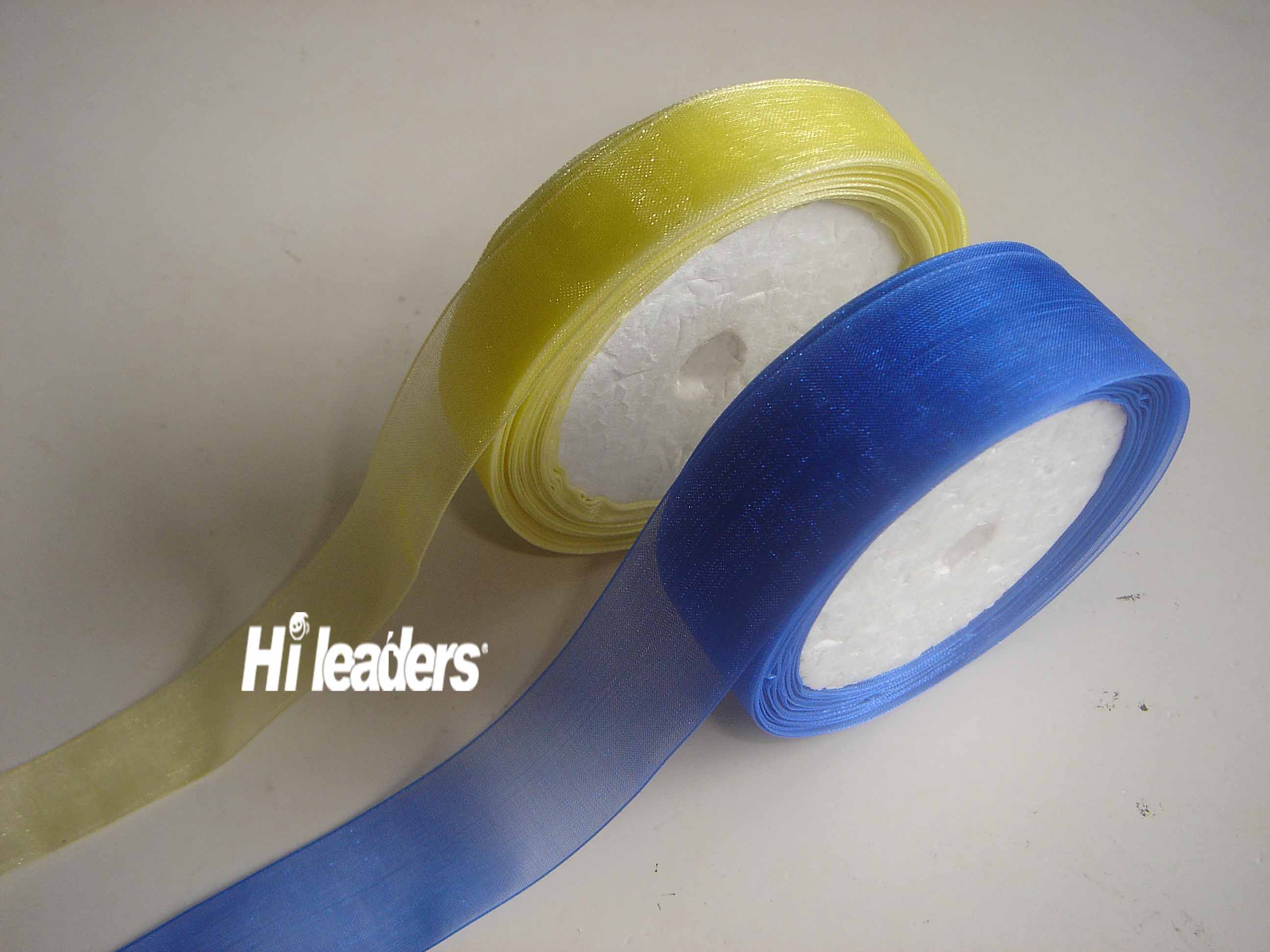 Decorative solid color organza ribbon