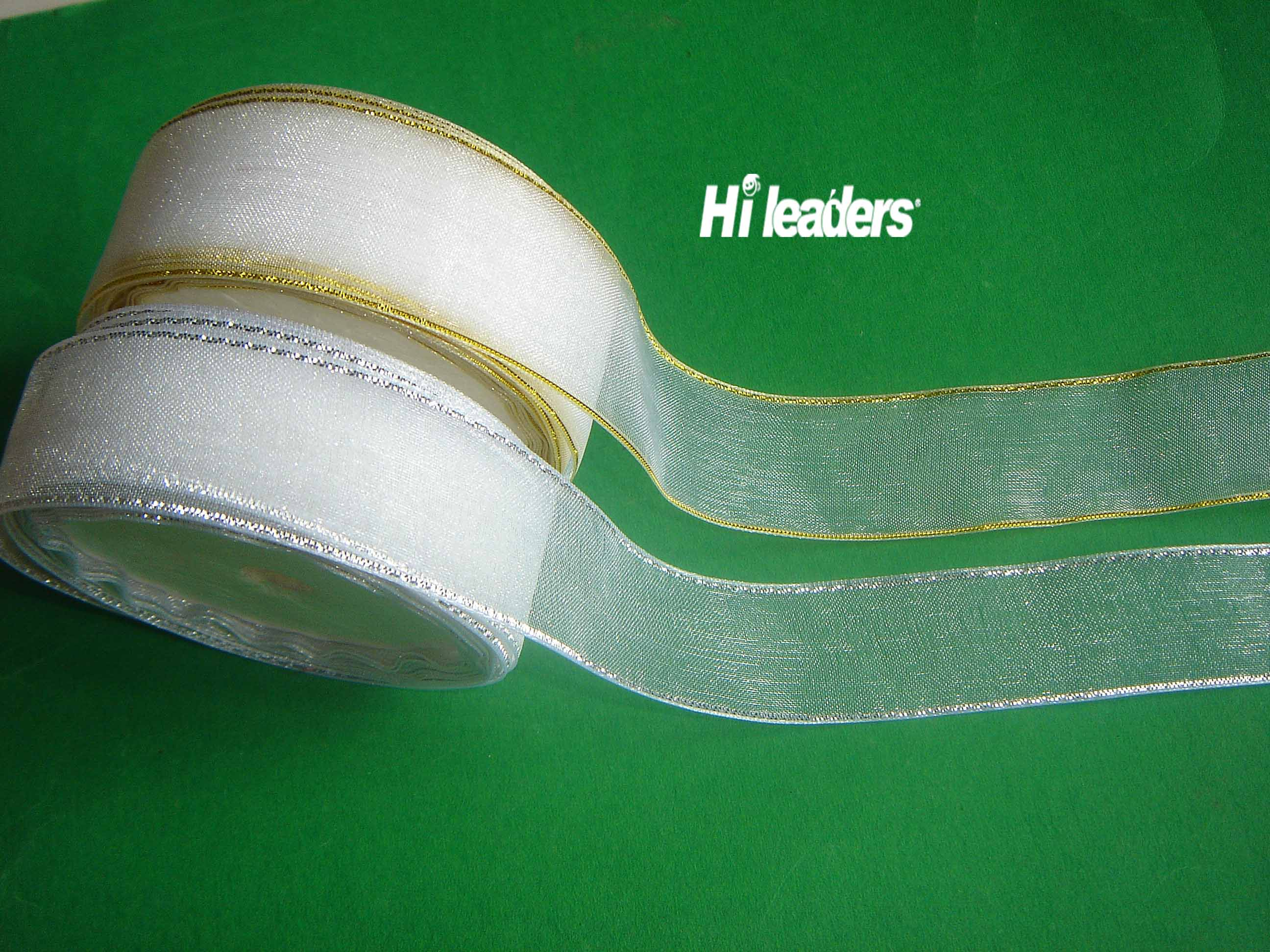 White Nylon Sheer organza ribbon