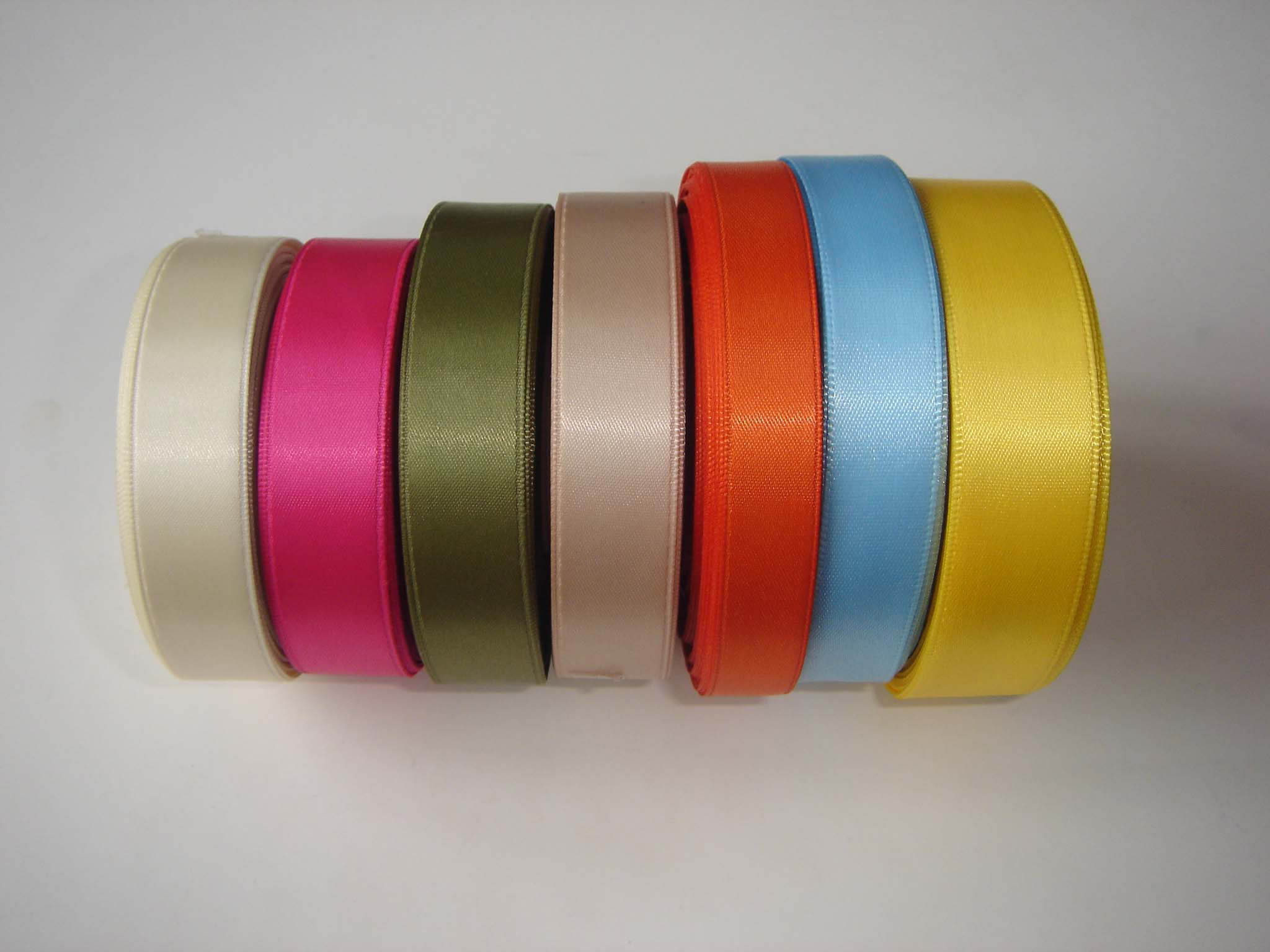 Single Face Polyester Satin Woven Ribbon