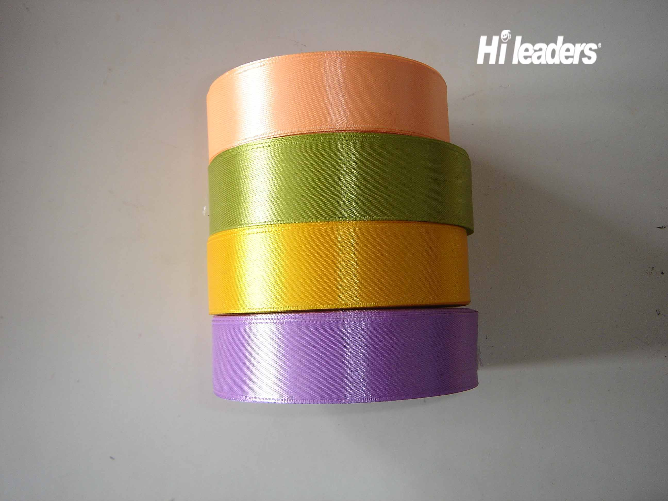 Polyester single face woven edge satin ribbon