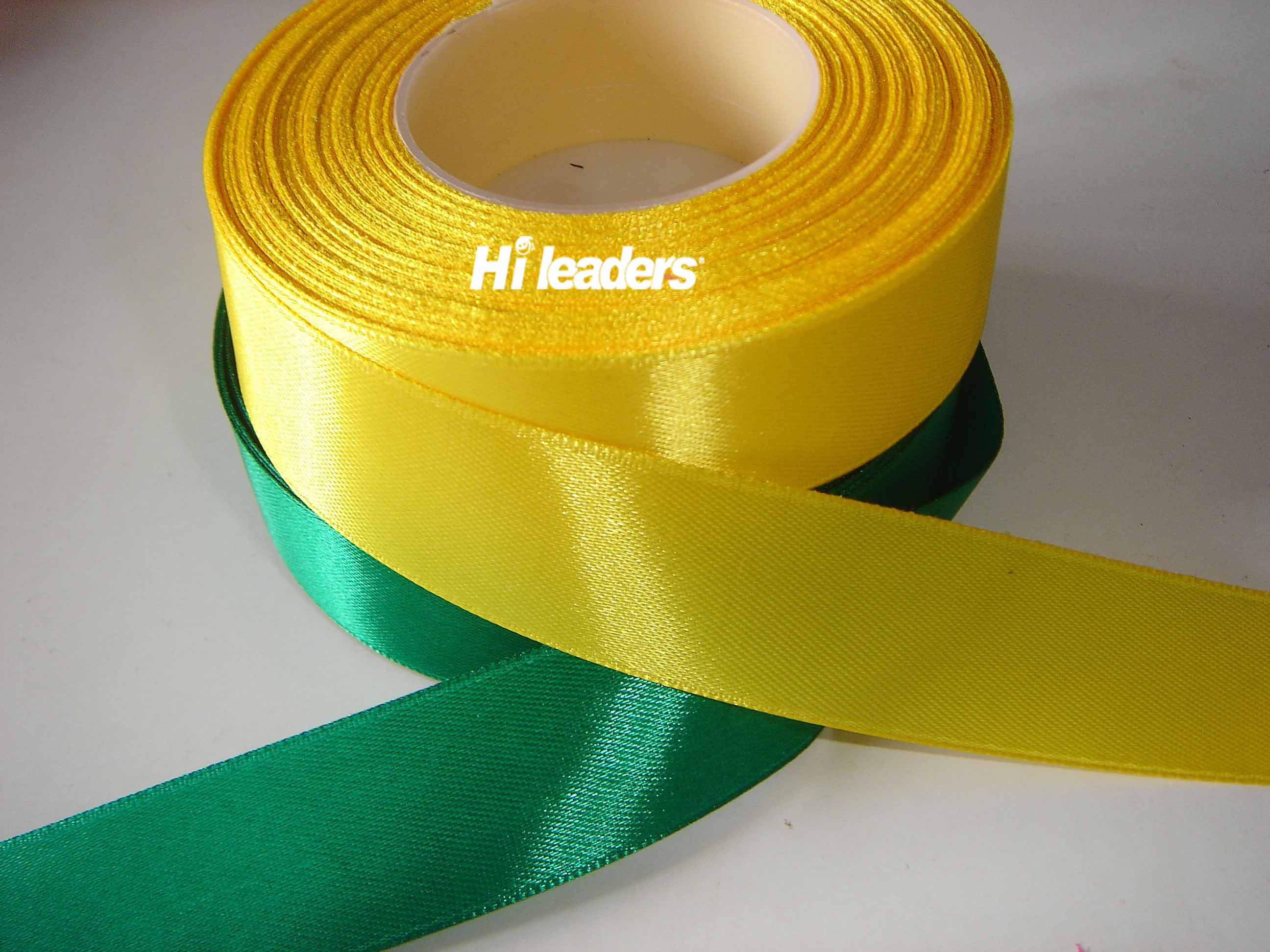 Polyester woven edge satin ribbon
