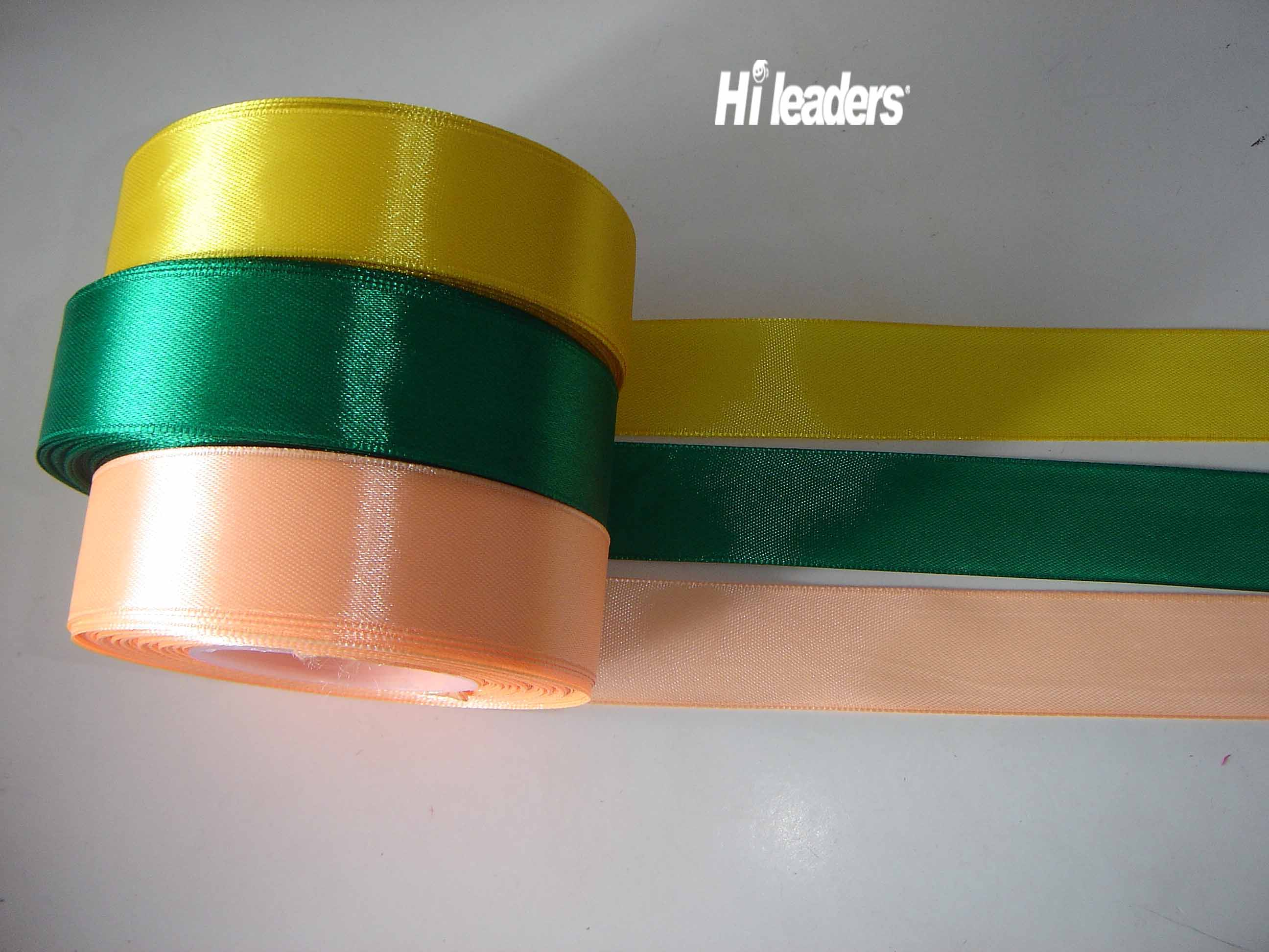 Polyester satin ribbon woven edge